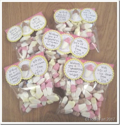 Ice cream sweetie bags