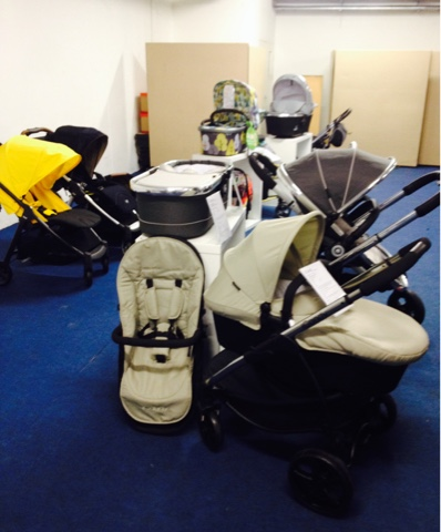selection of prams