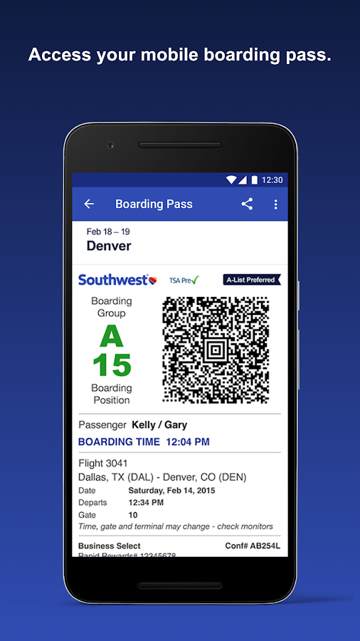 Southwest Airlines- screenshot