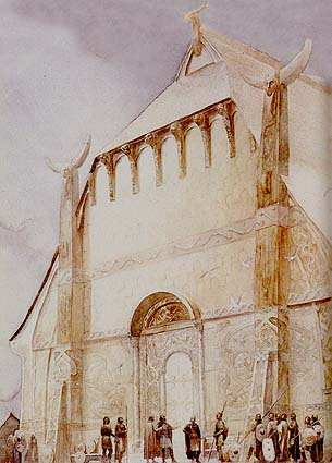 Hrothgar Hall Heorot, Asatru Gods And Heroes