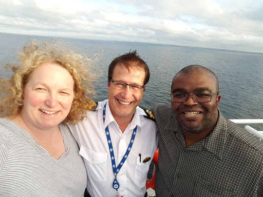 Selfie with Sr Chief Steward Albert. Every Journey Matters: Marine Atlantic Ferries to Newfoundland
