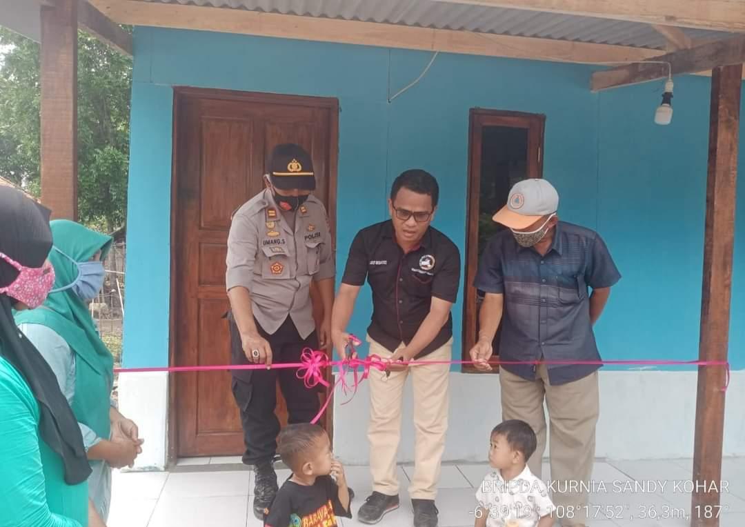 Kapolsek Ligung Hadiri Peresmian Bedah Rumah Rutilahu di Desa Sukawera