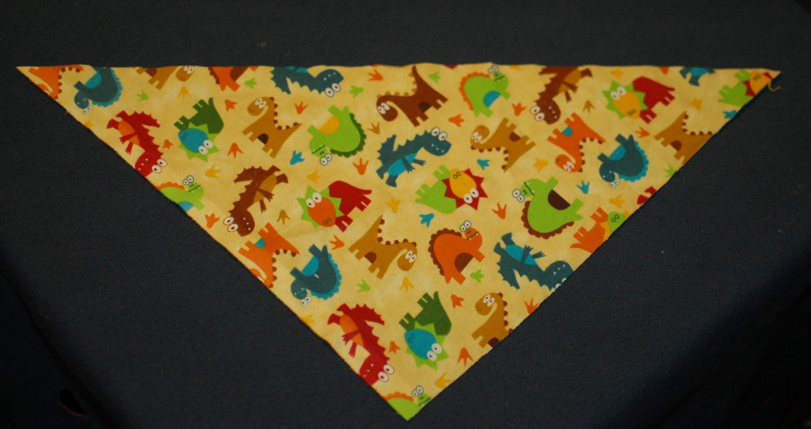 Turtlecraftygirl bandana bib tutorial step 1 cut a triangle131317 from the flannel and lining fabric both of same size baditri Images
