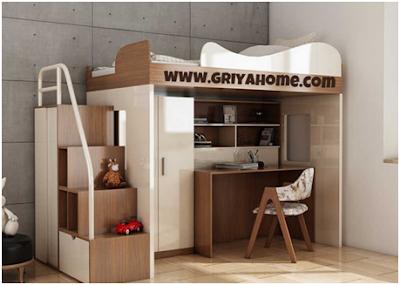 Tempat Tidur Tingkat Dibawahnya Meja Belajar