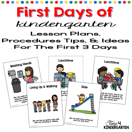 Kindergarten routines for the first day of school
