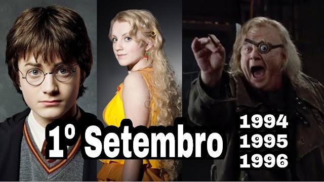 Acontecimentos no mundo mágico de Harry em 1º de setembro de 1994, 1995 e 1996