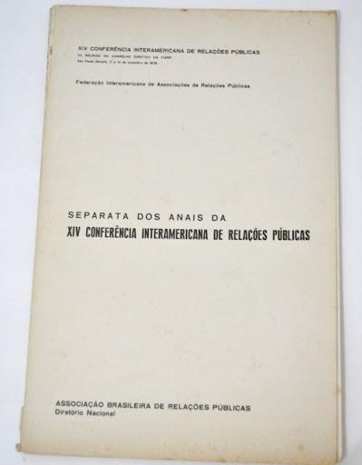 Anais da XIV Conferência Intaramericana de Relações Públicas (1978)