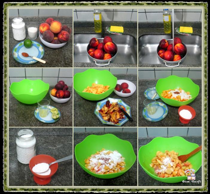 Torta de pêssegos Refém 4