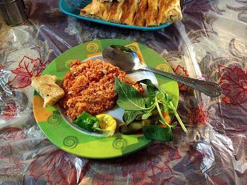Omelette in einem iranischen Restaurant