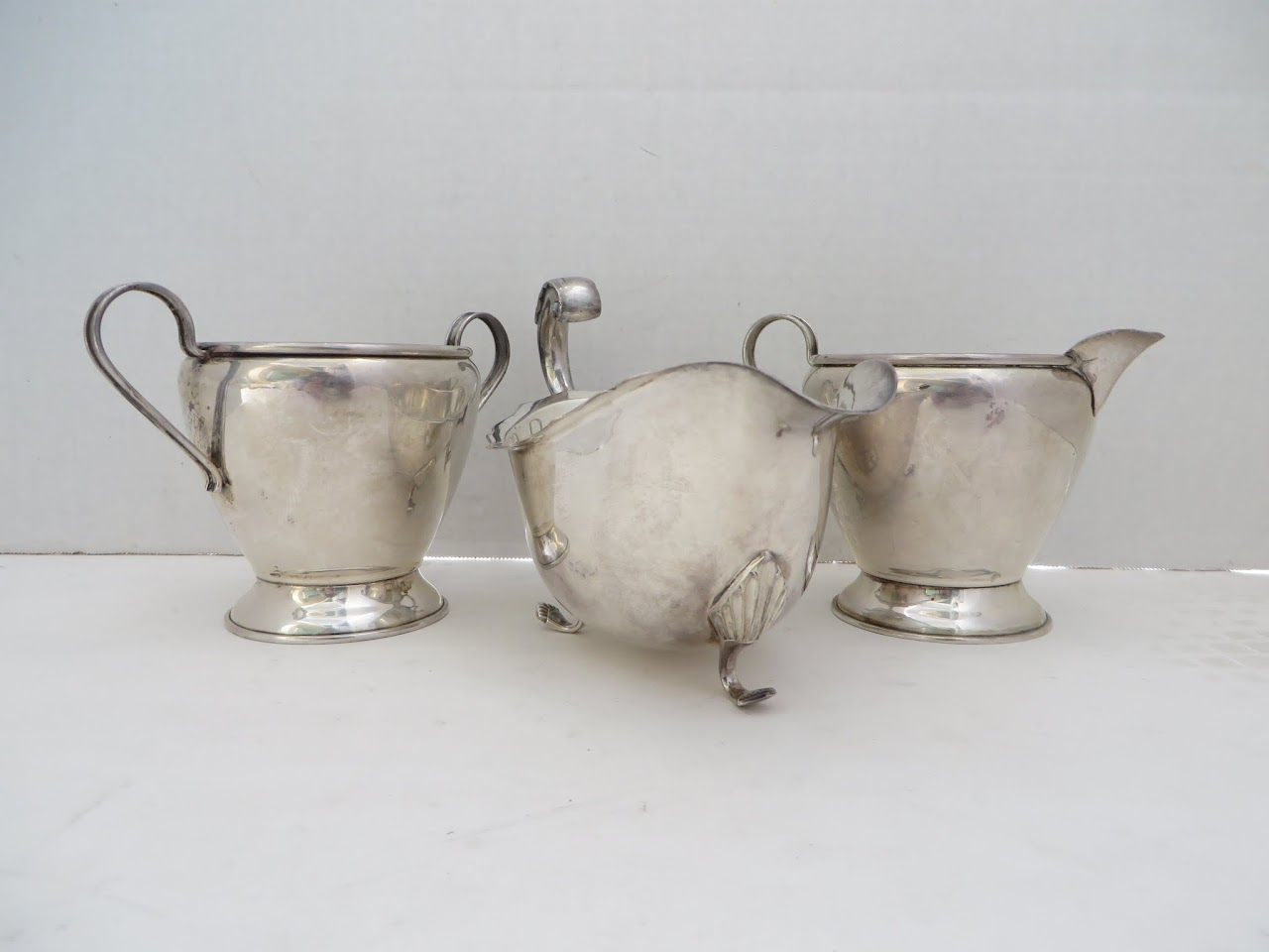 Sterling Silver Sugar and Creamer Dishes