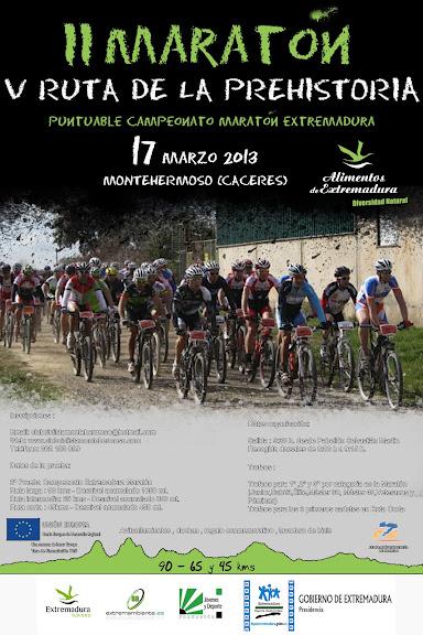 II Maratón y Ruta de la Prehistoria 17 Marzo Montehermoso CartelMontehermoso2013