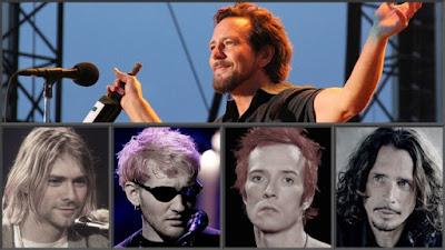 grunge rock legends singer Kurt Cobain Nirvana Layne Staley Alice In Chains Scott Weiland Stone Temple Pilots Chris Cornell Soundgarden Eddie Vedder Pearl Jam