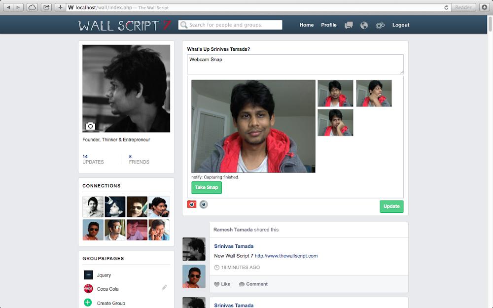 the social network script