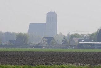 Photo: uitzicht vanuit de voortuin naar de Brielse Dom