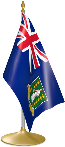 British Virgin Island  table flags - desk flags