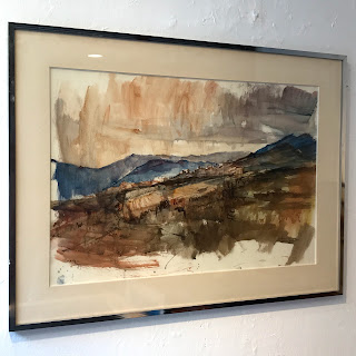 Signed Expressionist Watercolor Landscape