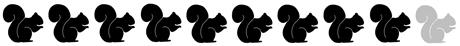 9 squirrels