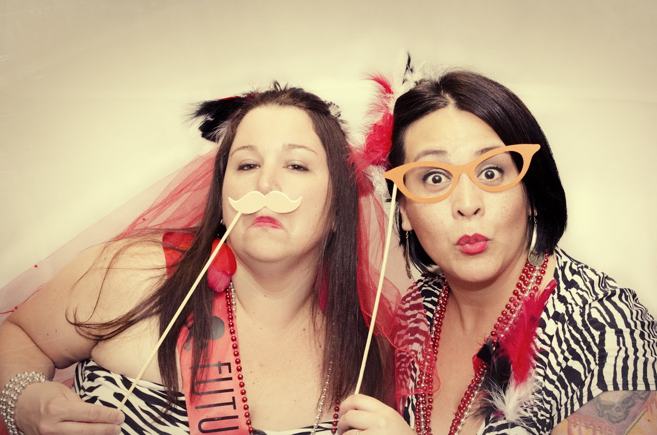 Bachelorette photo booth