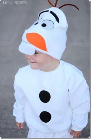 disfraz casero de Olaf de frozen (10)