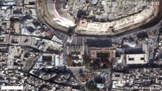 Near East: Syrian World Heritage sites showing significant damage
