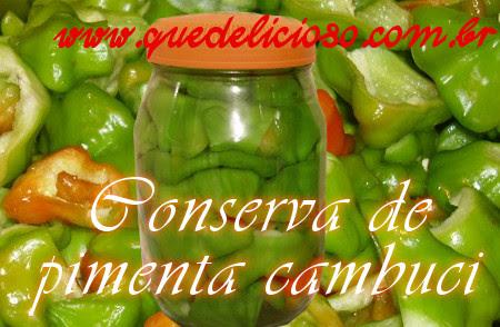 Conserva de pimenta cambuci