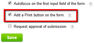 how to print the payment summary from the order form