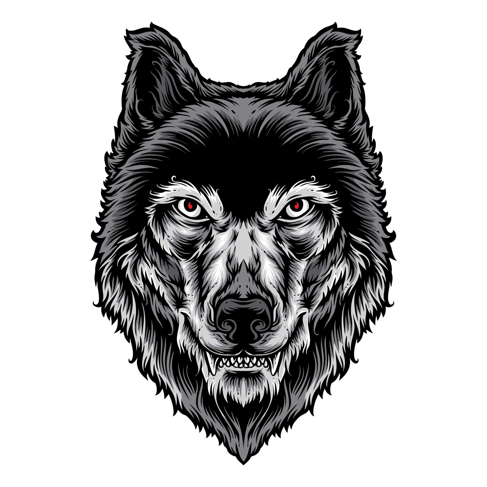 Wolf Head Vector Logo Free Download Vector CDR, AI, EPS and PNG Formats