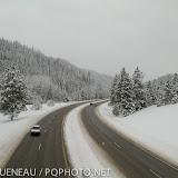 A snowy highway.