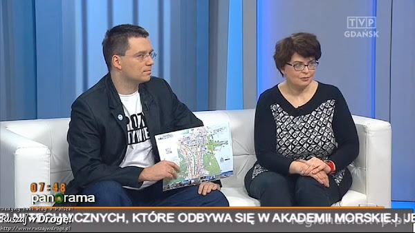Maciej z Gdynią promują audioprzewodnik