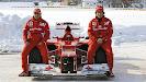 Reveal Ferrari F2012 with Massa & Alonso snow