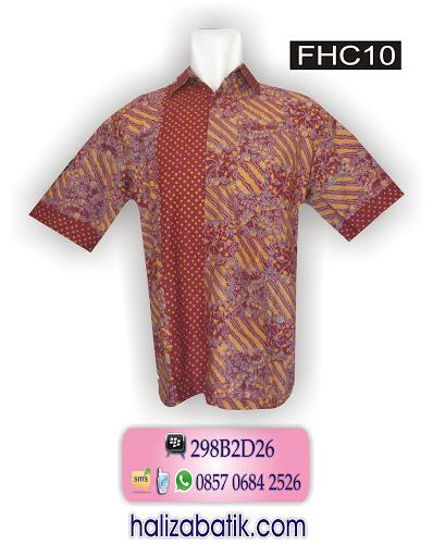 baju batik pria, model atasan batik, busana online