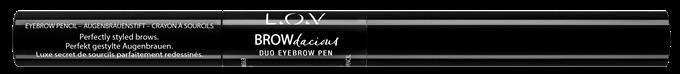 L_O_V BROWdacious duo eyebrow pen 100