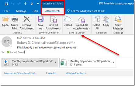Saving attachments to SharePoint – CIAOPS