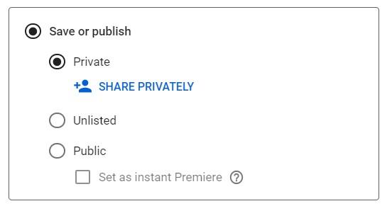 Share A Private Video