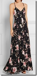 Alice and Olivia Floral Crepe de Chine Maxi Dress
