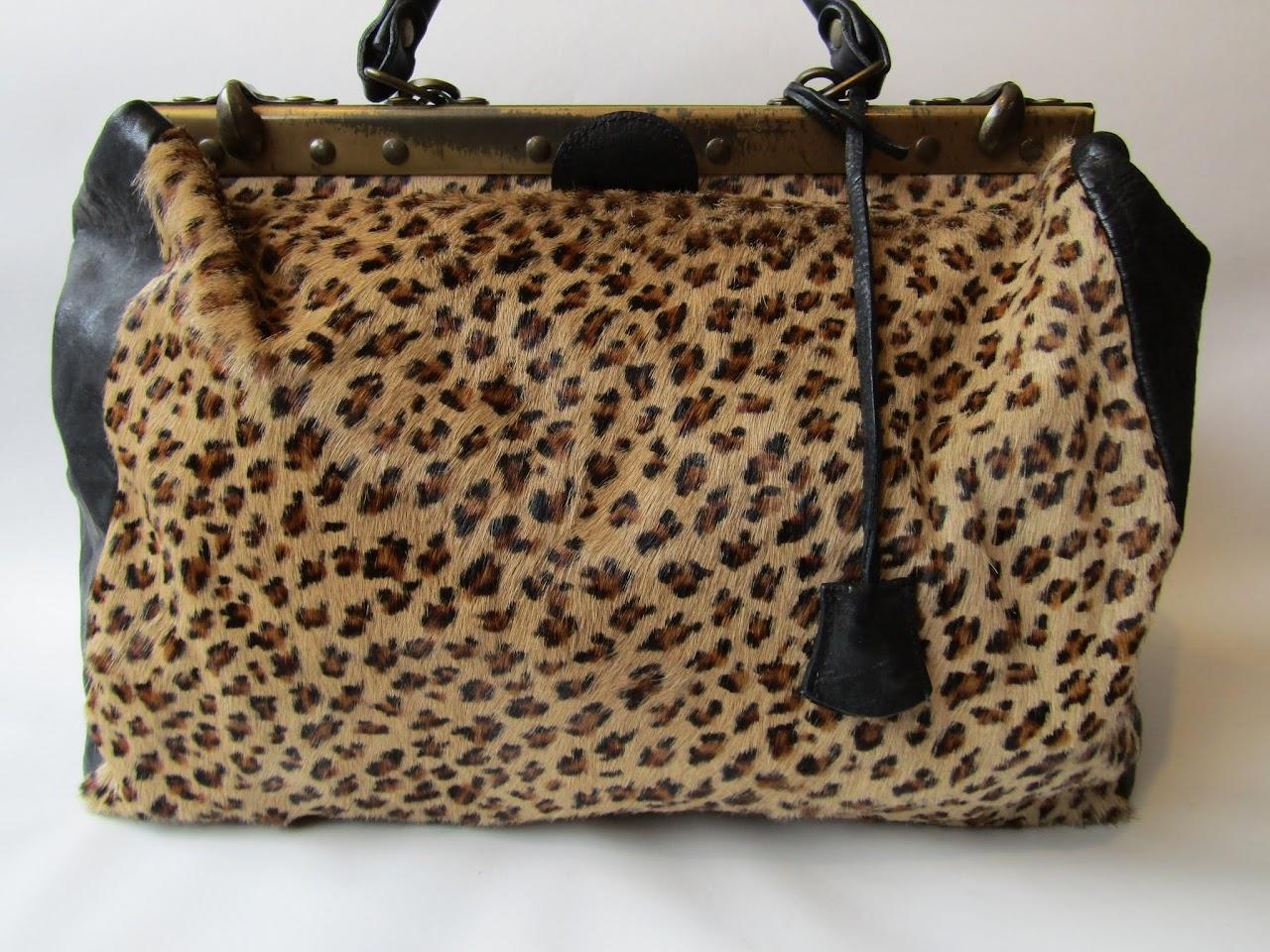 Vintage Hide and Leather Shoulder Bag