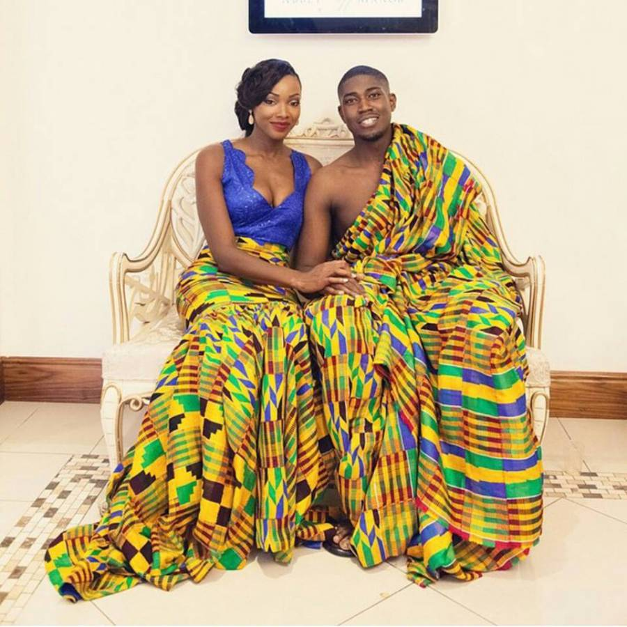Ghana Kente Wedding Dresses 2016African Prints Worn By The Bridal Train Is A Big Trend Now In And Its Unifying Power Draws Attention To