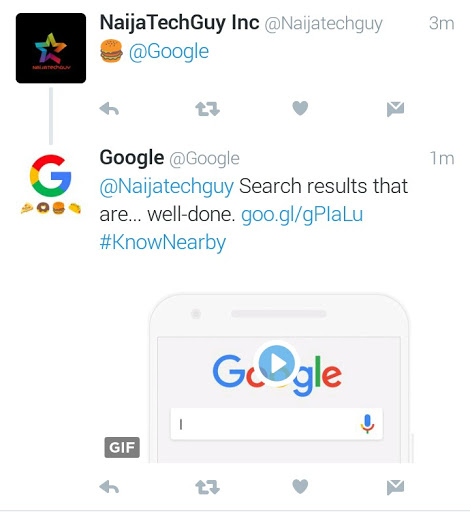 Tweet A Food Emoji At Google's Twitter Account And Get An Instant Funny Reply 2