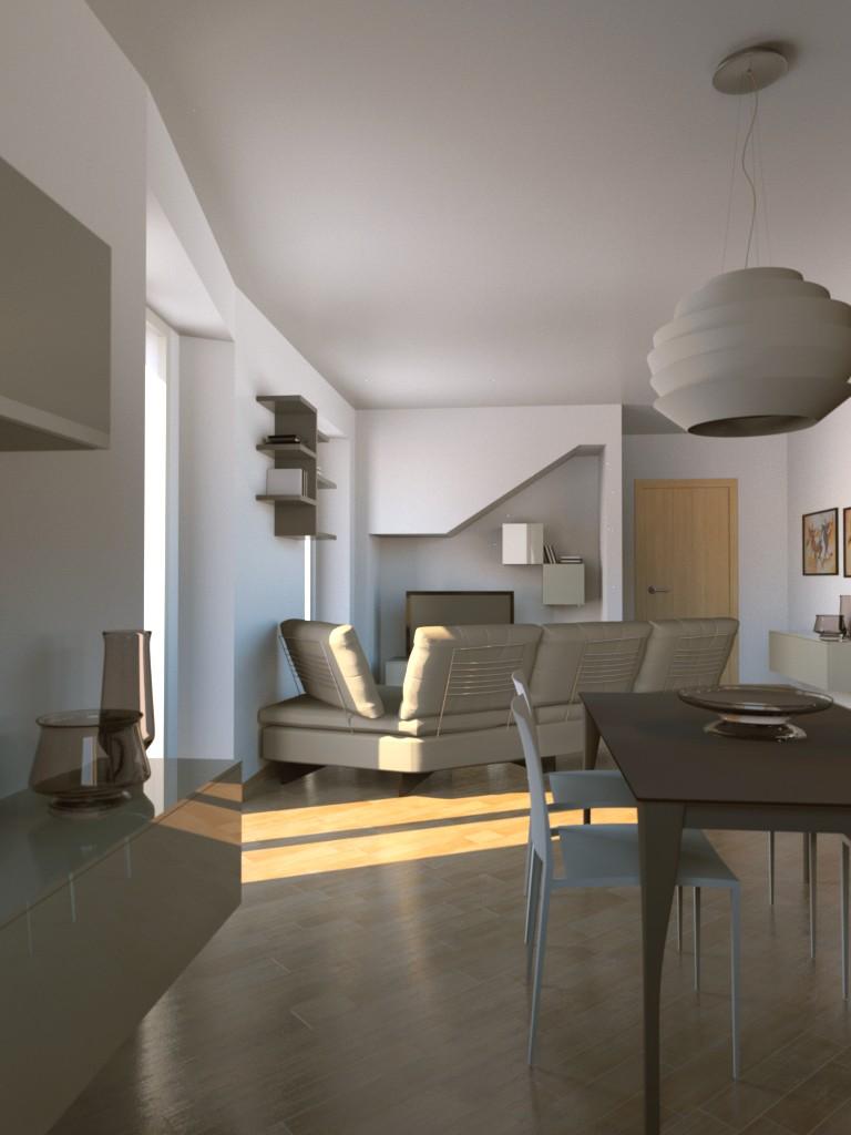 Open Space Cucina Soggiorno Con Camino. Fabulous Disegno Del ...