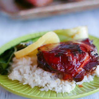 Slow Cooker Sticky Pineapple Chicken.