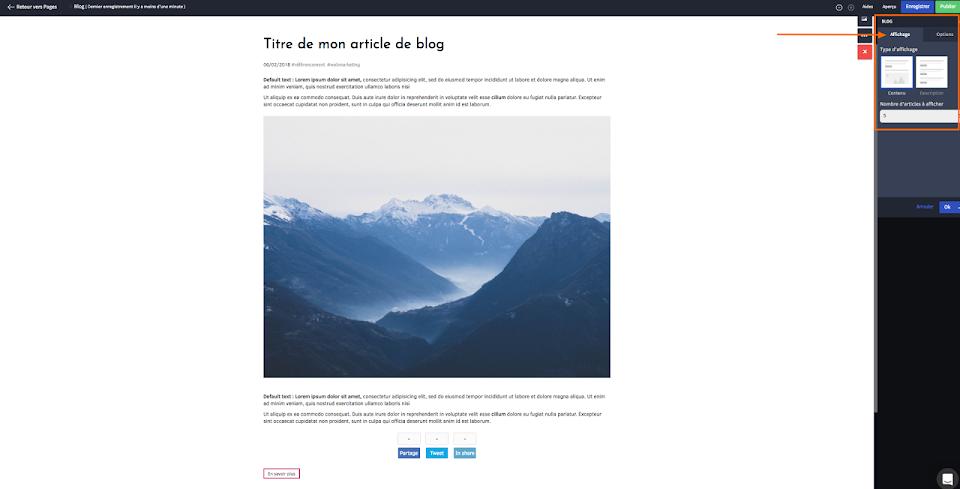 intégrer un blog dans mon site