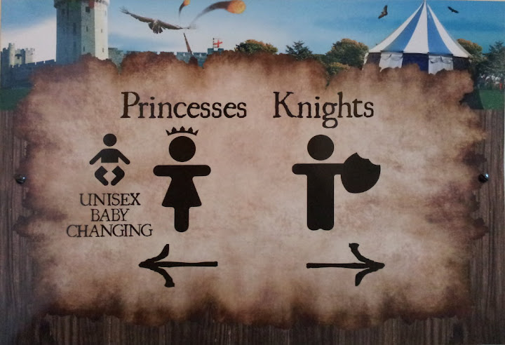Knights and Princesses - signage at Warwick Castle