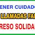 Llamadas falsas para registrarse en el Ingreso Solidario