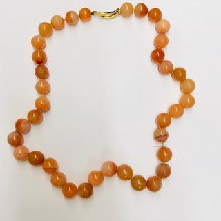 Carnelian & 18K Gold Beaded Necklace