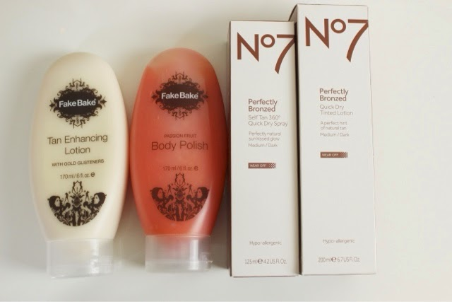 A picture of Fake Bake an No7 self tanning products