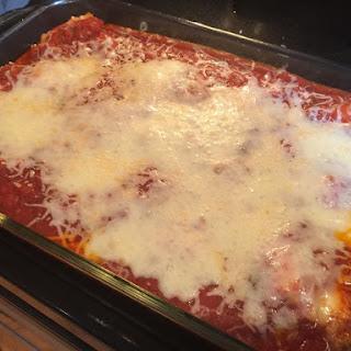 Three Ingredients Dinner-Easy Ravioli Bake/Lasagna -5 Minute Prep.