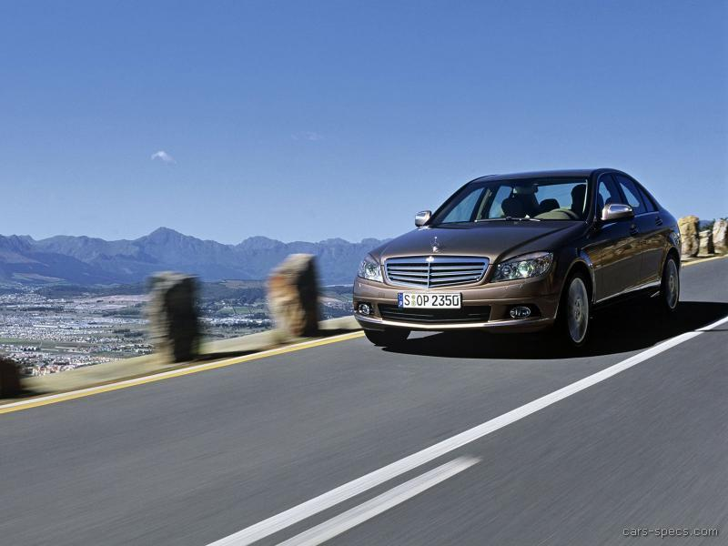 2008 mercedes benz c class sedan specifications pictures for Mercedes benz c class horsepower