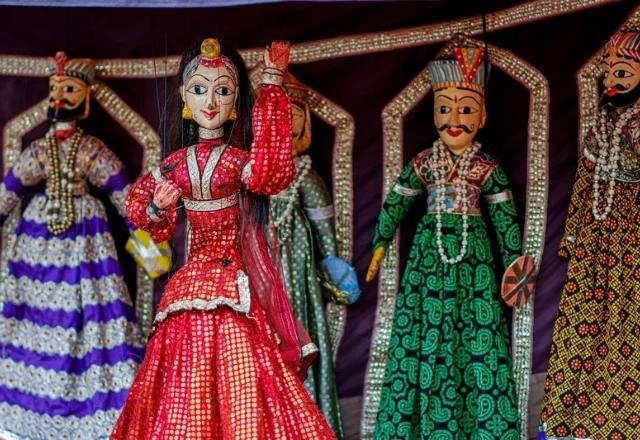 Puppet show in Jaisalmer rajasthan