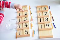 Montessori Math Counting Beyond Ten: The Teens