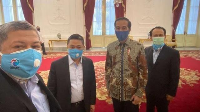 Foto: Petinggi Partai Gelora dan Presiden RI, Jokowi. Jokowi Mengaku Kangen Suara Fahri Hamzah.